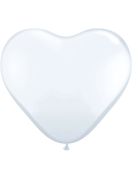Globo látex corazón Blanco