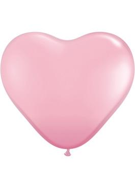 Globo látex corazón Pink