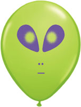 Globo látex Space Alien Lime Green 13cm