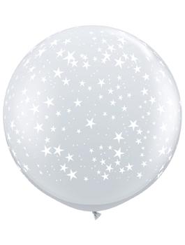 Globo látex gigante Stars-A-Round transparente