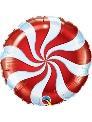 Globo foil Candy Swirl Red