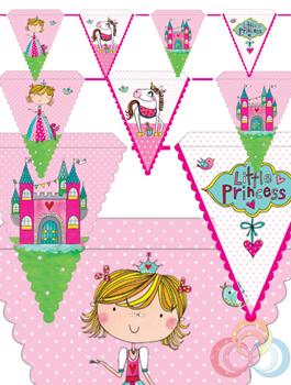 Banderín Princesa Rachel Ellen, 6u