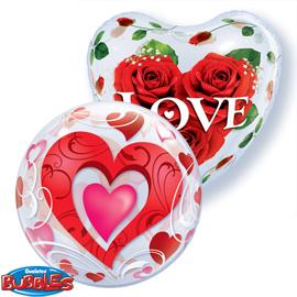 Globos Bubble San Valentin