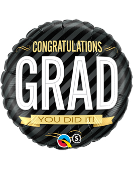 Globo foil Congratulations Grad Stripes