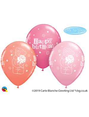 Globo látex Tatty Teddy Birthday Rose