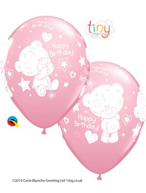 Globo látex Tiny Tatty Teddy Birthday niña