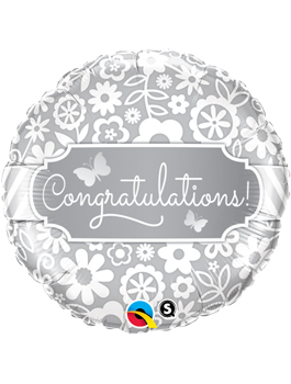 Globo foil Congratulations Butterflies