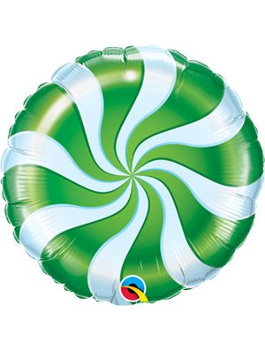 Globo foil Candy Swirl Green