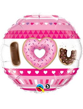 Globo foil I love U Donuts