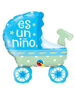 "Globo foil cochecito Es un Niño 14"""