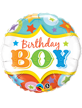 Globo foil Birthday Boy Circus Stars