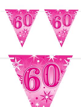 Banderín Fiesta 60 Rosa