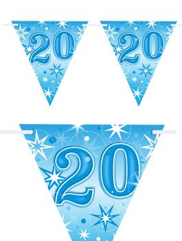 Banderín Fiesta 20 Azul