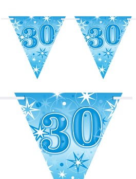 Banderín Fiesta 30 Azul