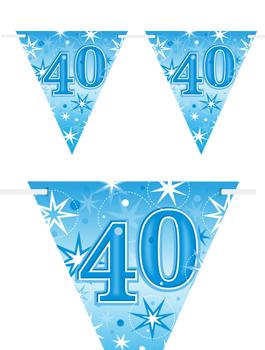 Banderín Fiesta 40 Azul