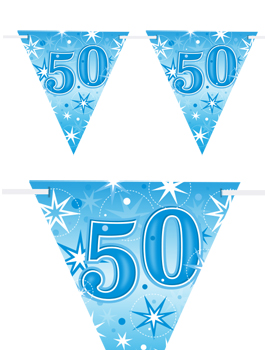 Banderín Fiesta 50 Azul