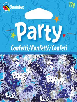 Confeti metálico Party plata azul
