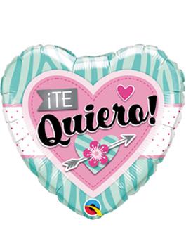 Globo foil Te Quiero Corazón y Flor