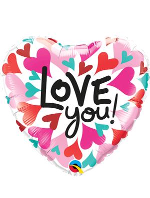 Globo foil corazón Love You! Corazones