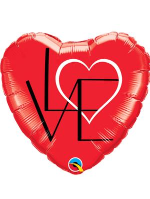 Globo foil corazón Love Red