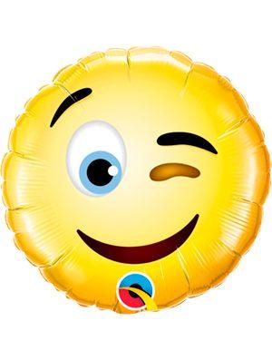 """Globo foil Emoji Guiño 9"""""""