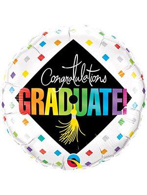Globo foil Graduate cap & diamonds