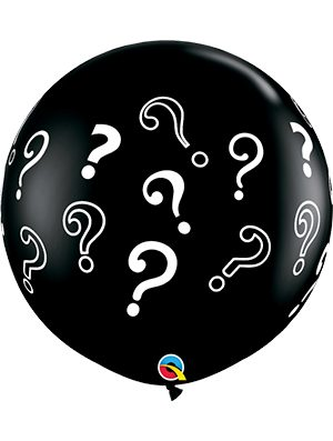 Globo látex gigante Question Marks
