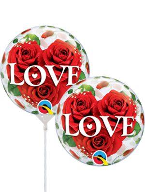 "Globo MiniBubble Love Roses 12"" para aire"