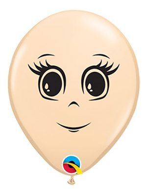 "Globo látex Femenine Face 16"" blush"
