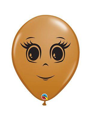 """Globo látex Femenine Face 16"""" moka"""