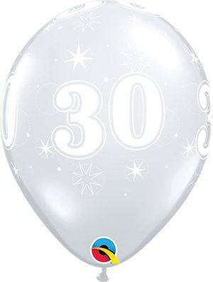 Globo látex 30 Sparkle transparente