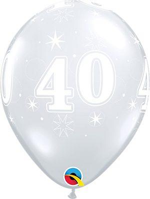Globo látex 40 Sparkle transparente