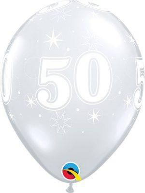 Globo látex 50 Sparkle transparente