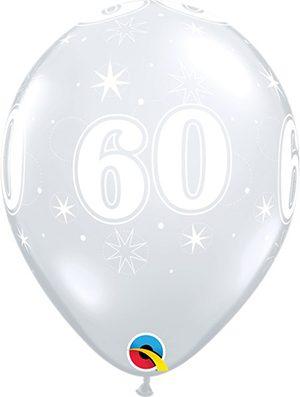 Globo látex 60 Sparkle transparente