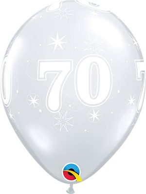 Globo látex 70 Sparkle transparente