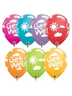 Globo látex Get well sunshine