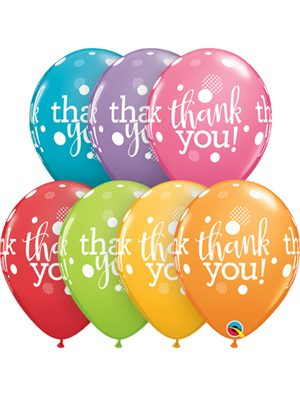 Globo látex Thank you dots upon dots