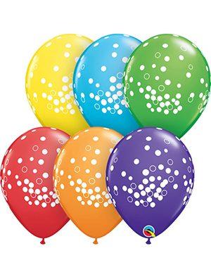 Globo látex Confetti Dots