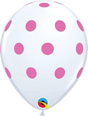 Globo látex Big polka dots Pink