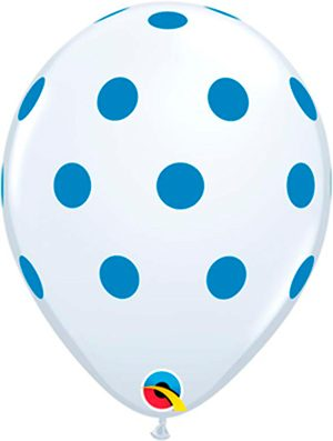 Globo látex Big polka dots Blue
