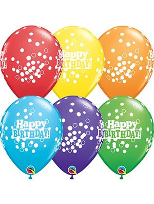 Globo látex Birthday Confetti dots pack 6