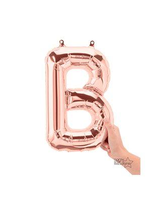 Globo foil letra B pequeña color Rose Gold
