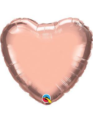 Globo foil corazón Rose Gold