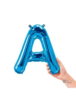 Globo foil letra A pequeña color Azul
