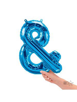 Globo foil signo & pequeño color Azul