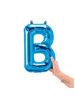 Globo foil letra B pequeña color Azul