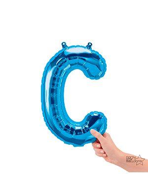 Globo foil letra C pequeña color Azul