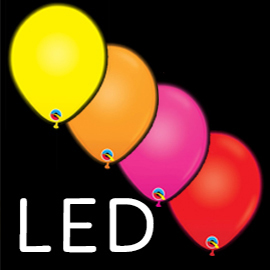 Globos látex LED