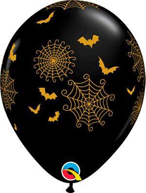 Globo látex Spider Webs & Bats