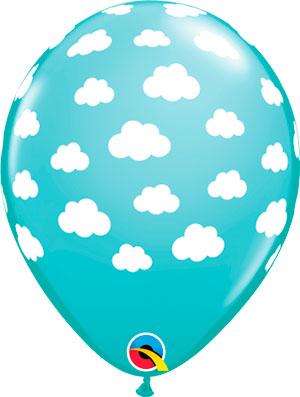 Globo látex Clouds Azul Caribe
